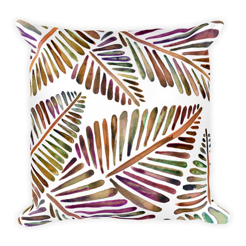 Banana Leaves – Vintage Palette  •  Square Pillow