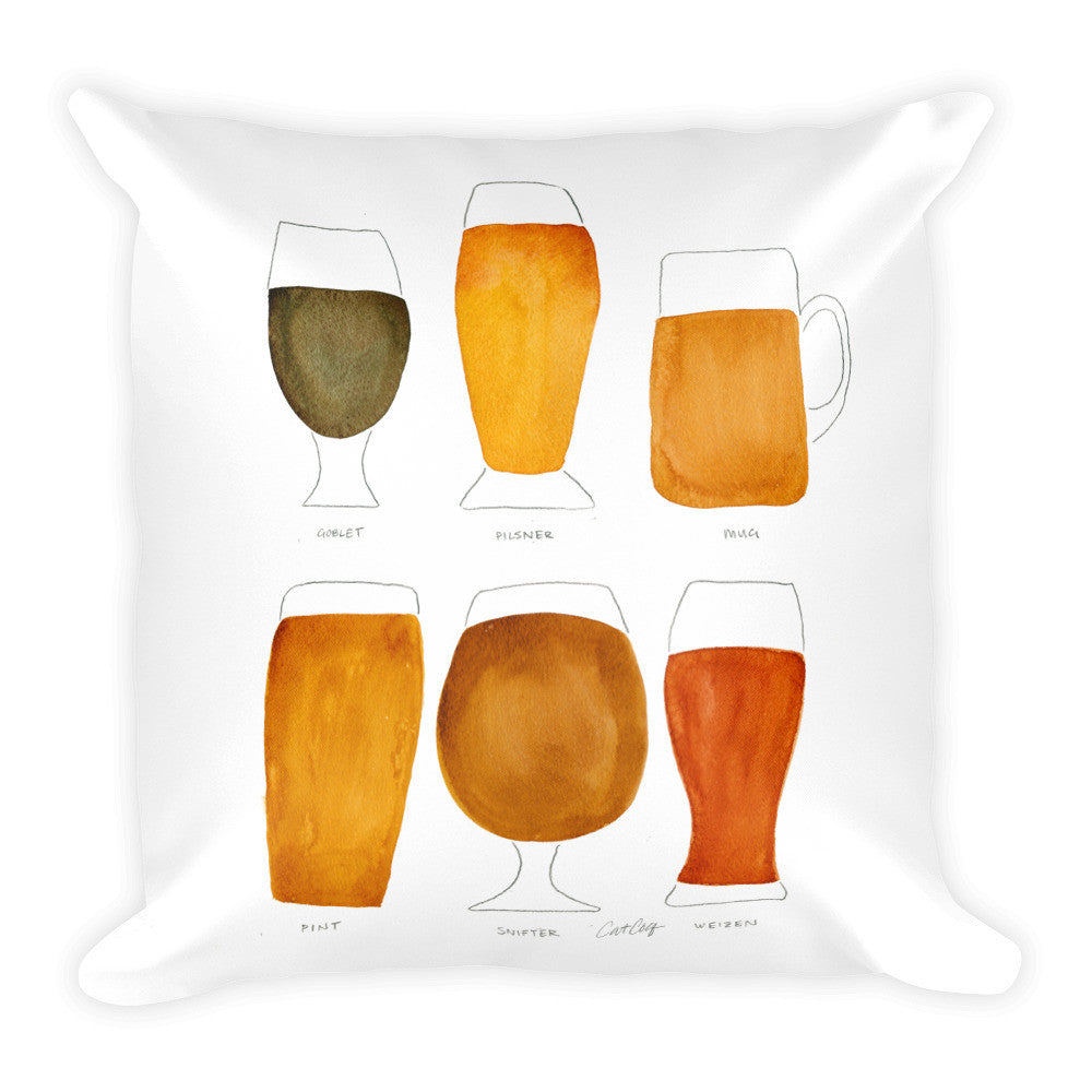 Beer Collection  •  Square Pillow