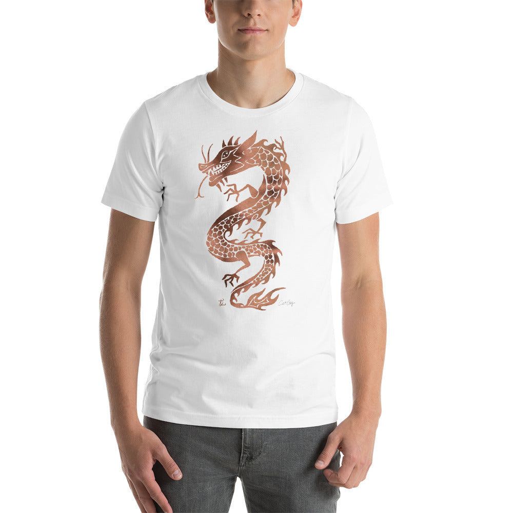 Chinese Dragon – Rose Gold Palette • Short-Sleeve Unisex T-Shirt