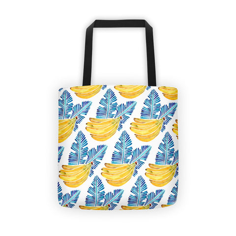 Banana Bunch – Yellow & Blue  •  Tote Bag