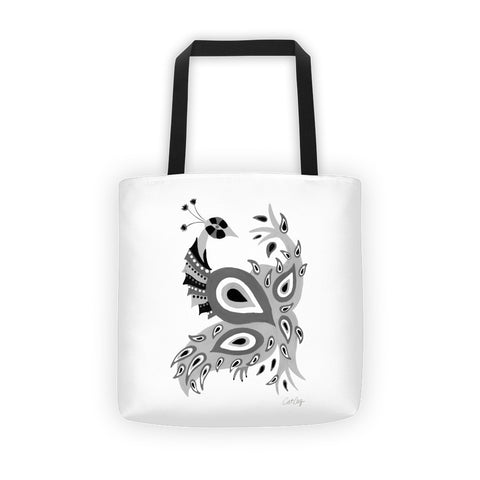 Peacock – Black Palette • Tote Bag