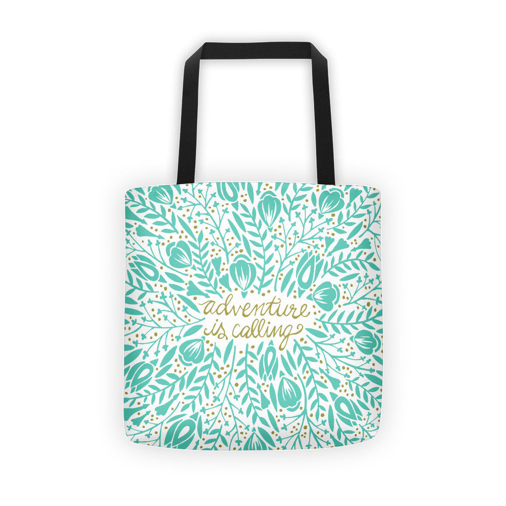 Adventure is Calling – Mint Palette  •  Tote Bag