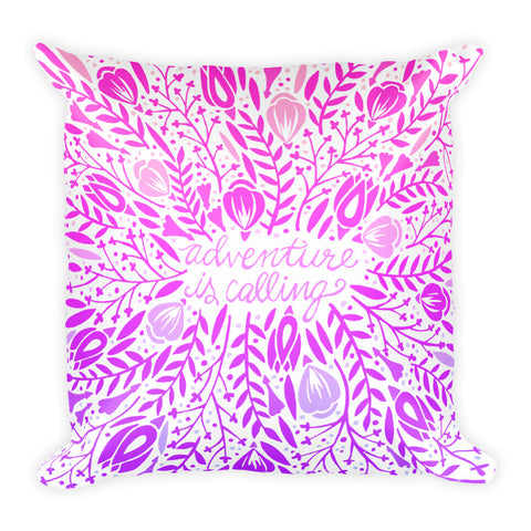 Adventure is Calling – Mermaid Palette  •  Square Pillow