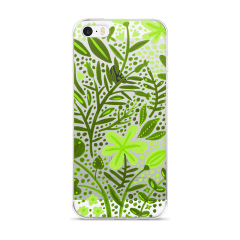 Garden – Green Palette  •  iPhone 5/5s/Se, 6/6s, 6/6s Plus Case (Transparent)