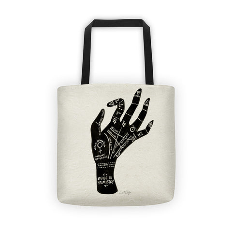 Palmistry – Black Hand  •  Tote Bag