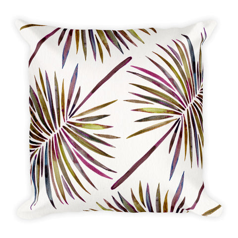 Fan Palm – Vintage Palette  •  Square Pillow