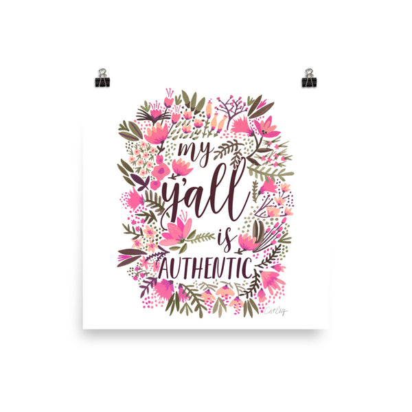 My Y'all is Authentic – Vintage Palette • Art Print
