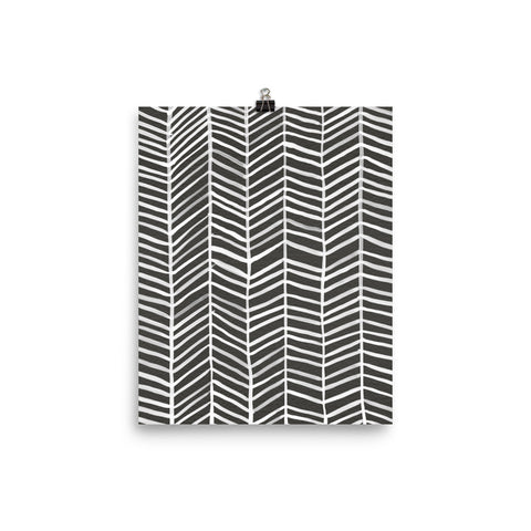Herringbone – Black Palette • Art Print