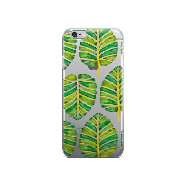 Elephant Ear Alocasia – Green Palette  •  iPhone 5/5s/Se, 6/6s, 6/6s Plus Case (Transparent)