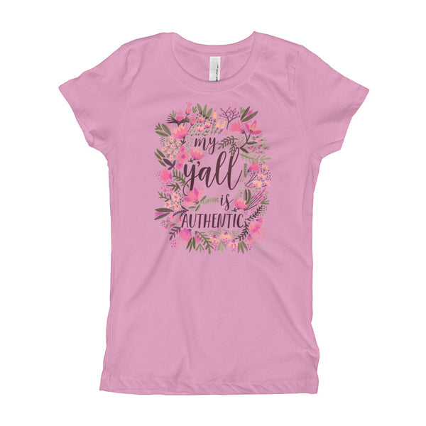 My Y'all Is Authentic – Vintage Palette • Girl's T-Shirt