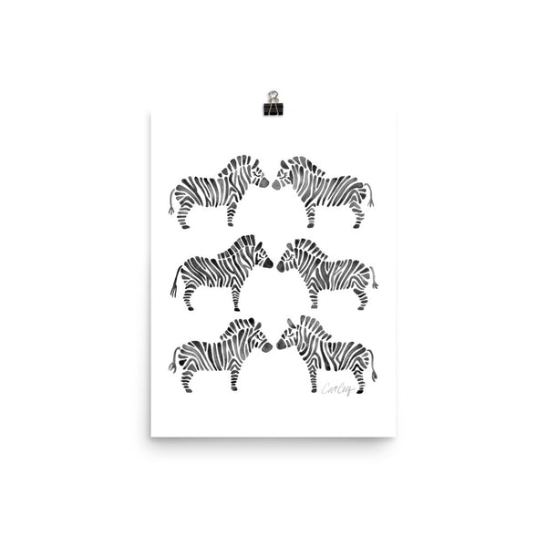 Zebra Collection – Black Palette • Art Print