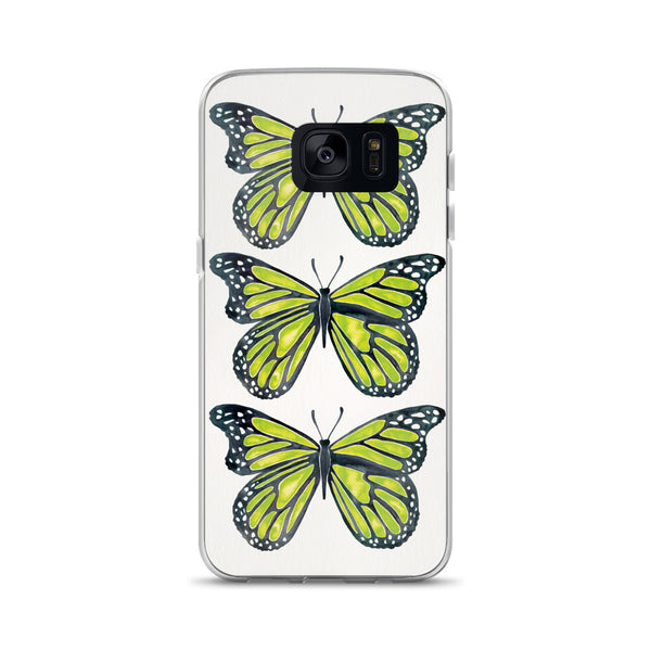 Butterfly – Lime Palette • Samsung Case