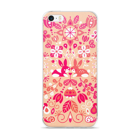 Bunny Lovers – Pink & Peach Palette  •  iPhone 5/5s/Se, 6/6s, 6/6s Plus Case