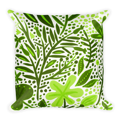 Garden – Green Palette  •  Square Pillow