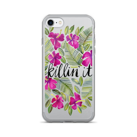 Killin' It – Magenta Palette • iPhone 7/7 Plus Case (Transparent)