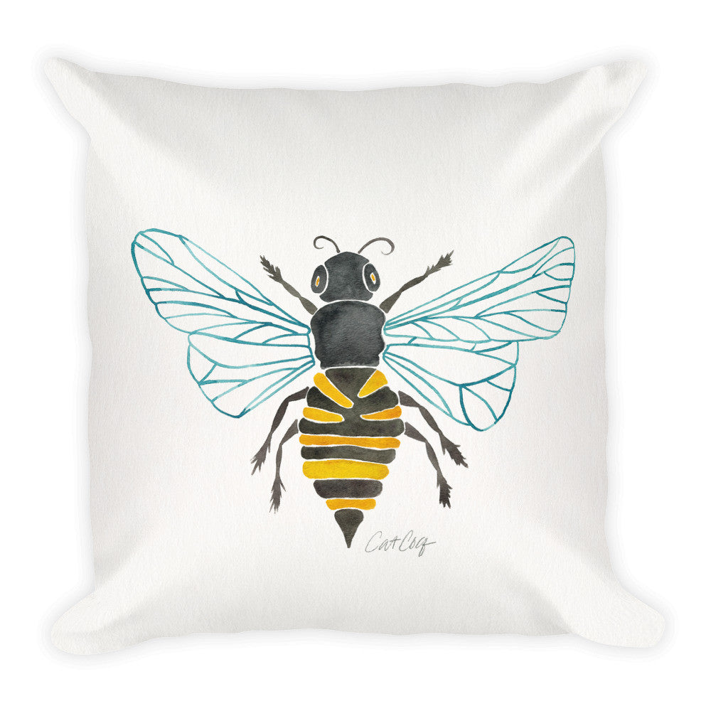 Honey Bee  •  Square Pillow