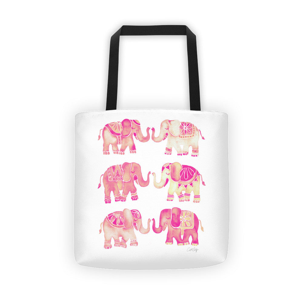 Elephant Collection – Pink Ombré Palette • Tote Bag