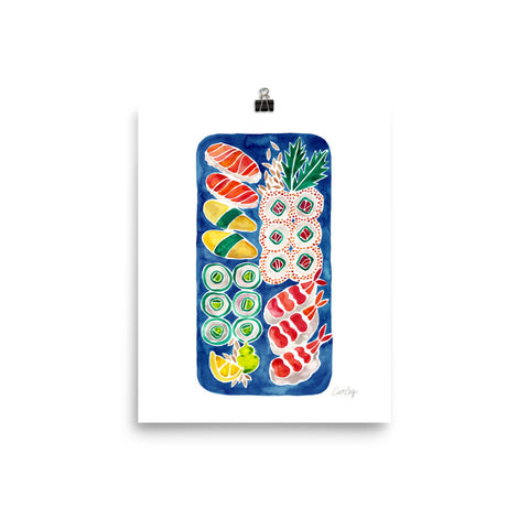 Sushi Collection – Navy Platter • Art Print