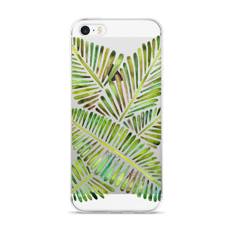 Banana Leaves – Green Palette  •  iPhone 5/5s/Se, 6/6s, 6/6s Plus Case (Transparent)