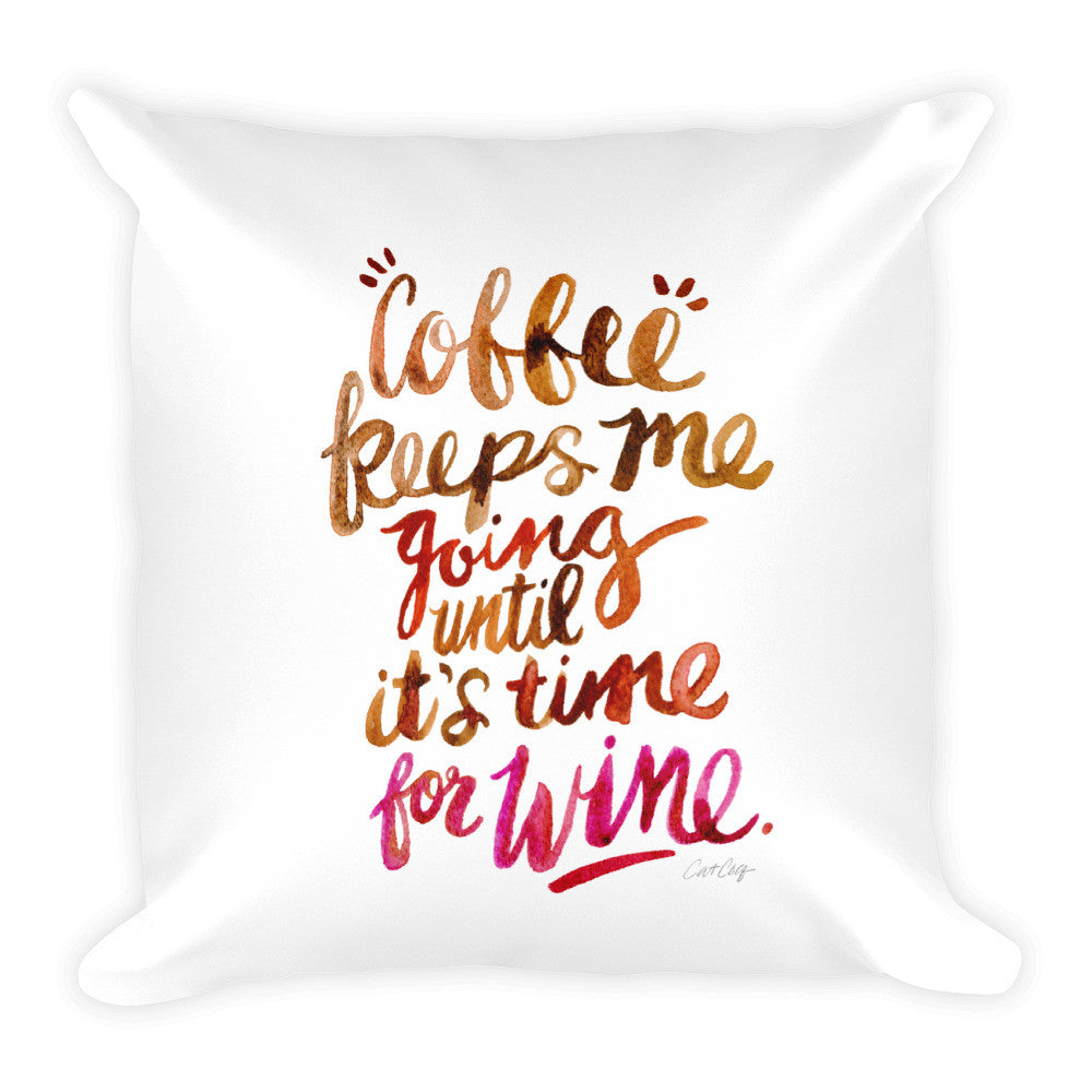 Coffee & Wine – Ombré Palette  •  Square Pillow