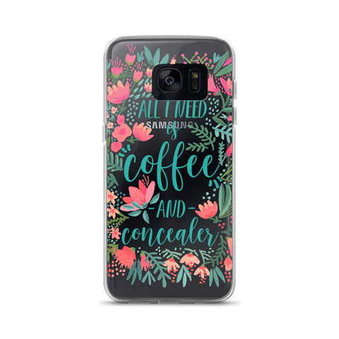 Coffee & Concealer – Juicy Palette • Samsung Case (Transparent)