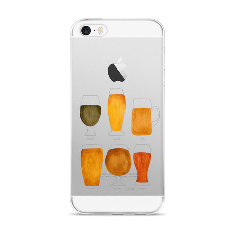 Beer Collection  •  iPhone 5/5s/Se, 6/6s, 6/6s Plus Case (Transparent)