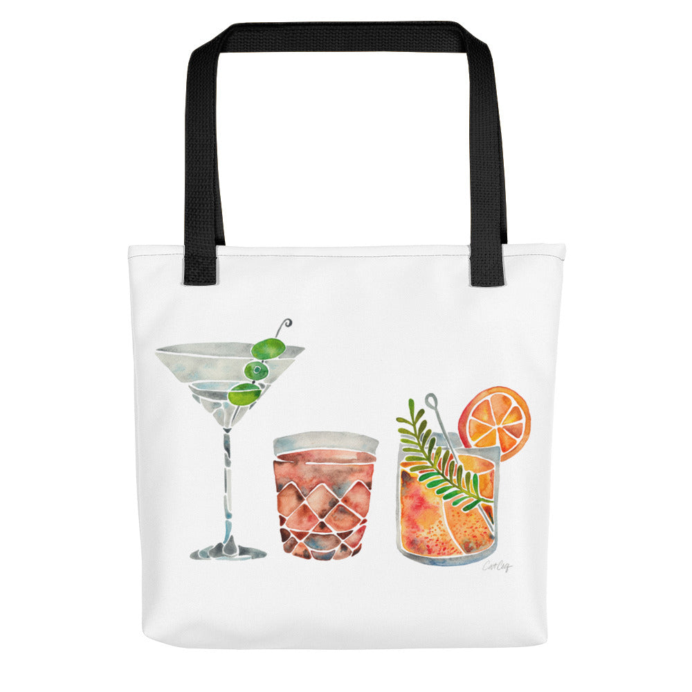 Classic Cocktails  – 1960s Watercolor Lineup • Tote Bag