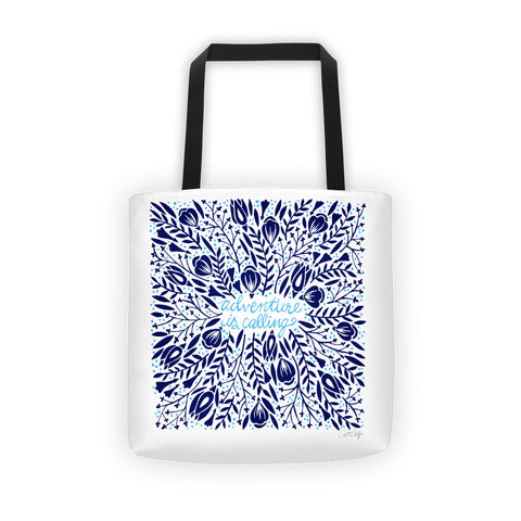 Adventure is Calling – Navy Palette  •  Tote Bag
