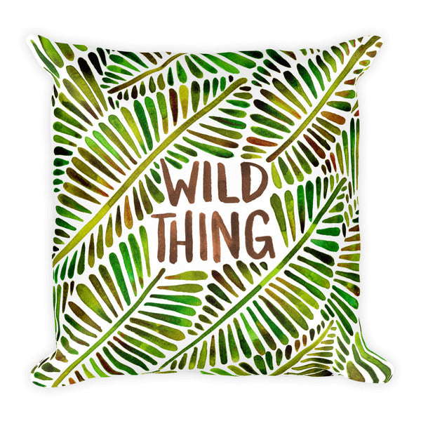 Wild Thing – Green Palette  •  Square Pillow
