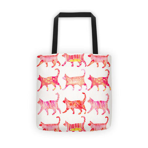 Cat Collection – Pink Palette  •  Tote Bag