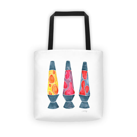 Lava Lamps – Primary Color Palette • Tote Bag