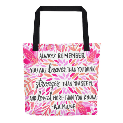 Always Remember – Pink Ombré Palette • Tote Bag