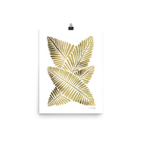 Banana Leaves – Gold Palette • Art Print