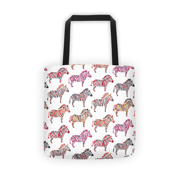 Zebra Collection – Rainbow Palette  •  Tote Bag