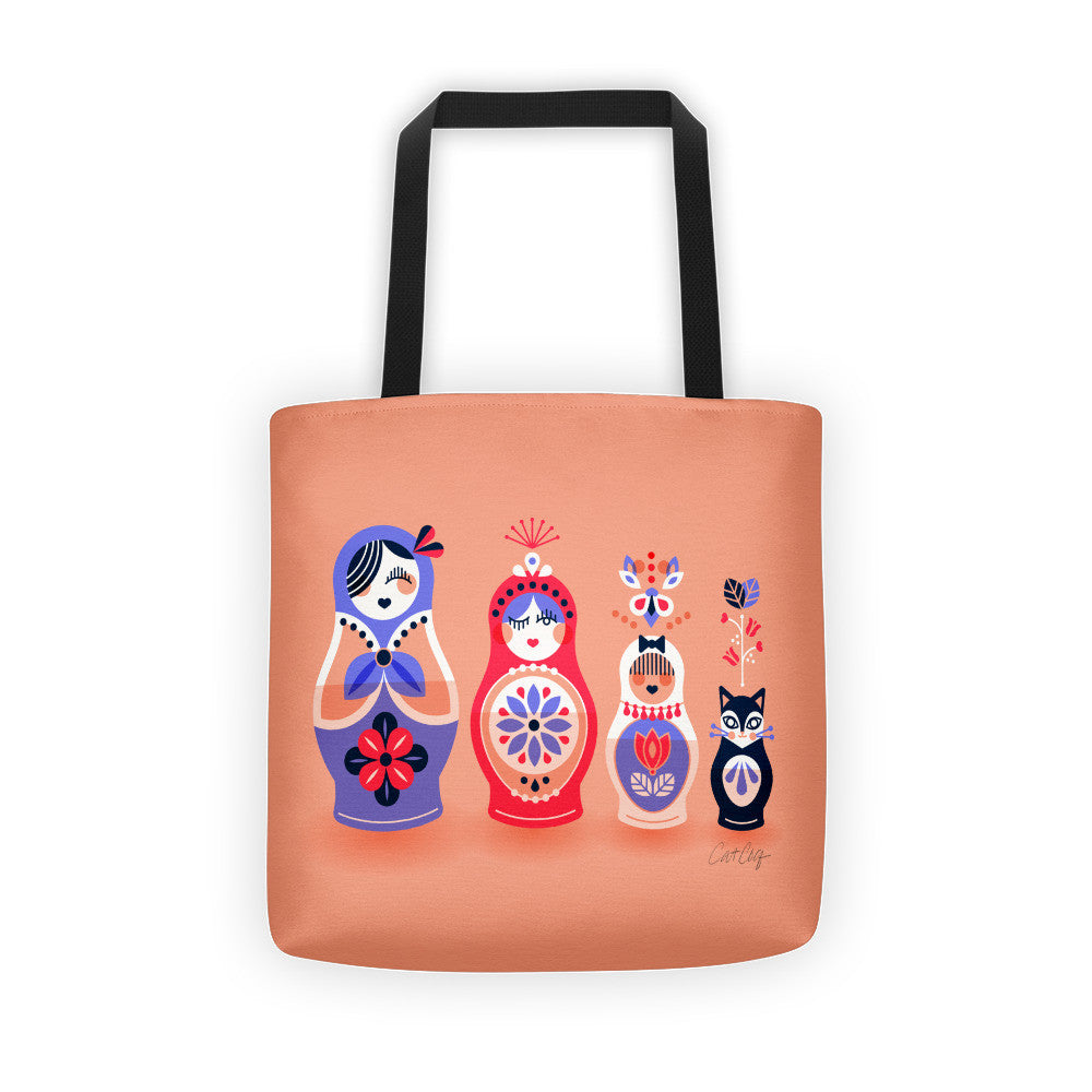 Russian Nesting Dolls – Blush and Lavender Palette  •  Tote Bag