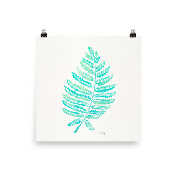 Fern Leaf – Mint Palette • Art Print