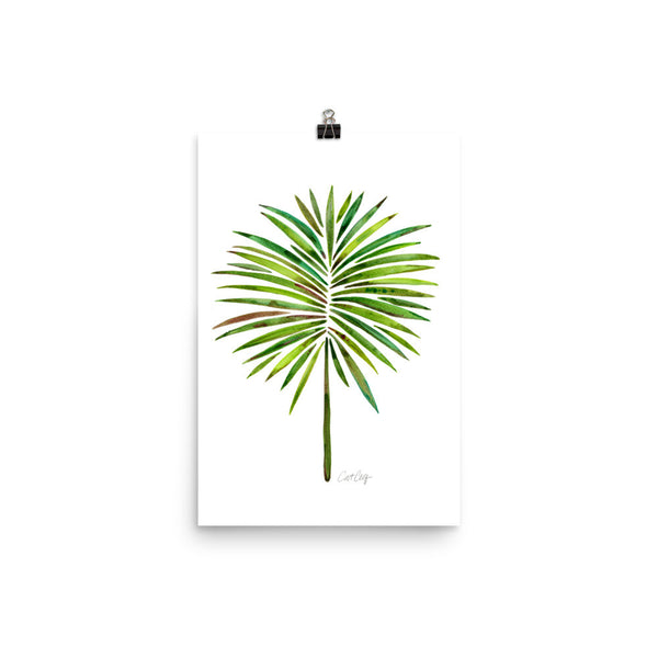 Fan Palm – Green Palette • Art Print