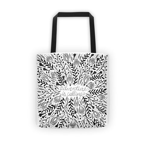 Adventure is Calling – Black Palette  •  Tote Bag