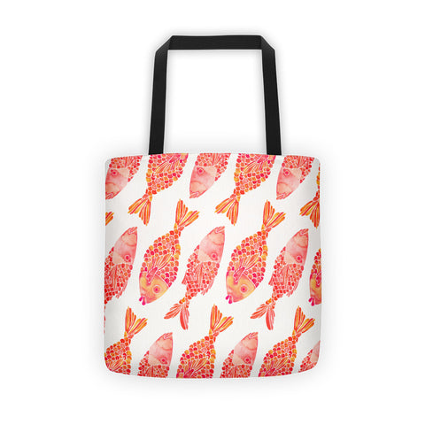 Indonesian Fish – Coral Palette  •  Tote Bag