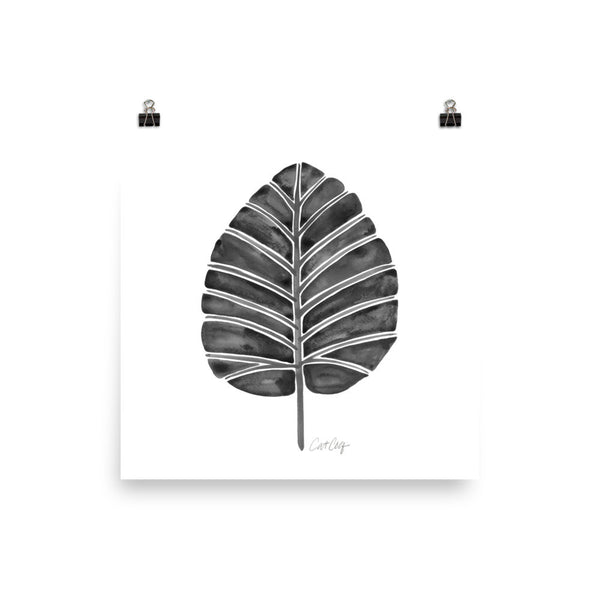 Elephant Ear Alocasia – Black Palette • Art Print