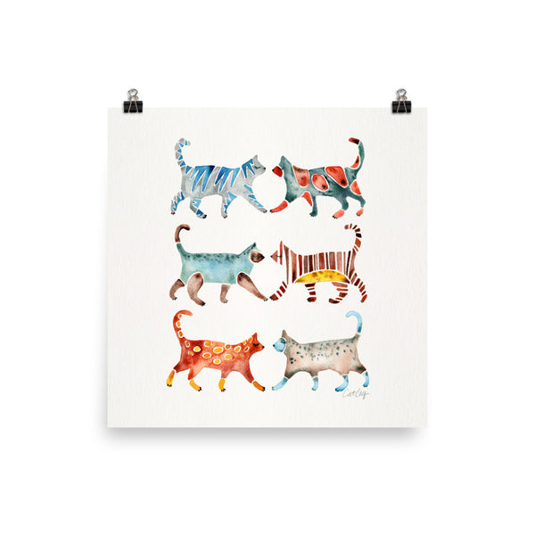 Cat Collection – Original Palette • Art Print