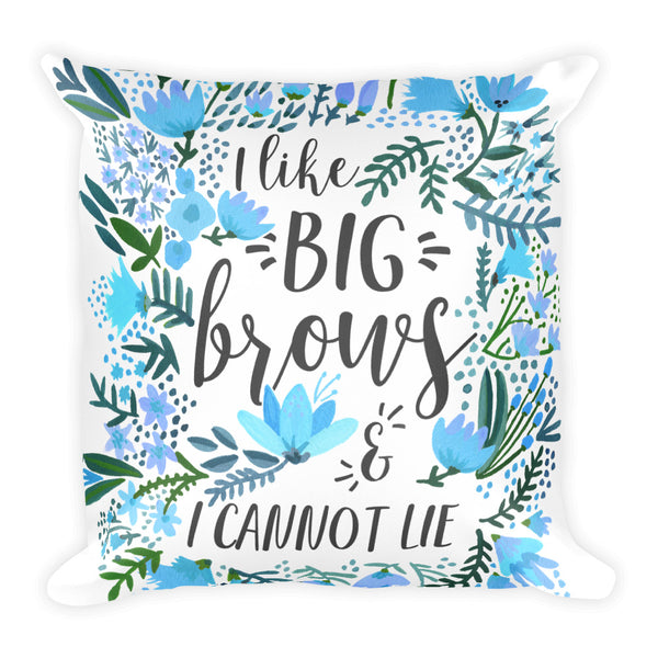 Big Brows – Blue Palette • Square Pillow