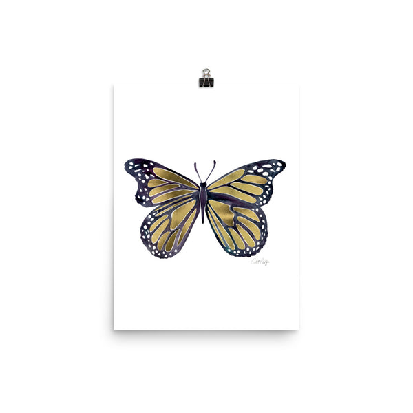 Butterfly – Gold Palette • Art Print