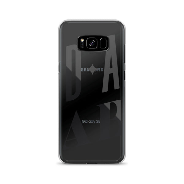 Bad Ass Babe – Black Type • Samsung Case (Transparent)