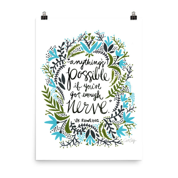 Anything's Possible – Green & Blue Palette • Art Print