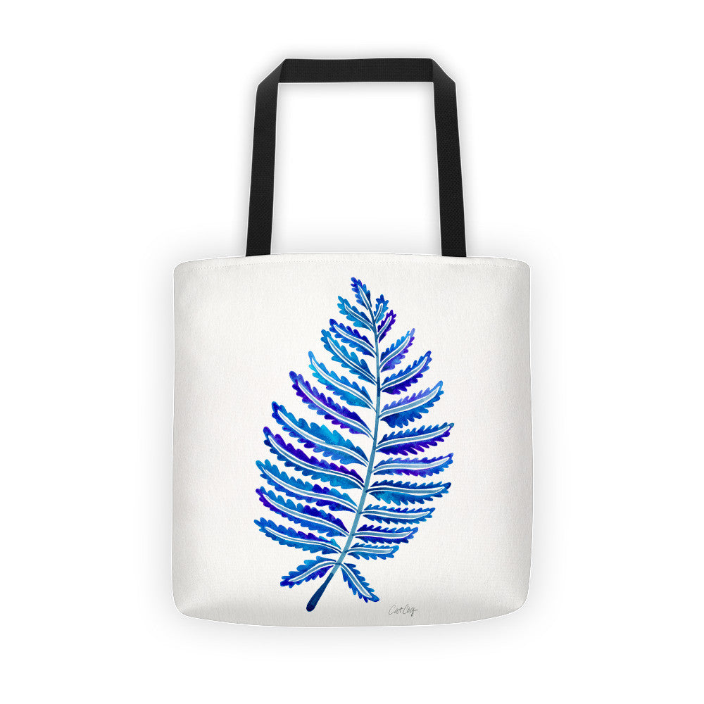 Fern Leaf – Navy Palette •  Tote Bag