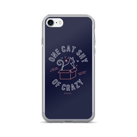 One Cat Shy of Crazy – Blush & Denim Palette • iPhone 7/7 Plus Case