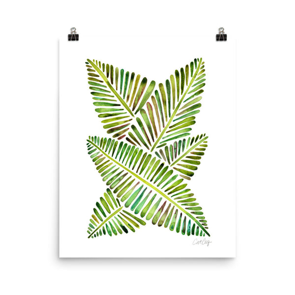 Banana Leaves – Green Palette • Art Print