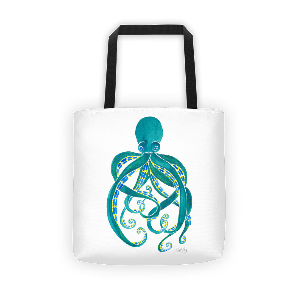 Octopus – Turquoise Palette • Tote Bag