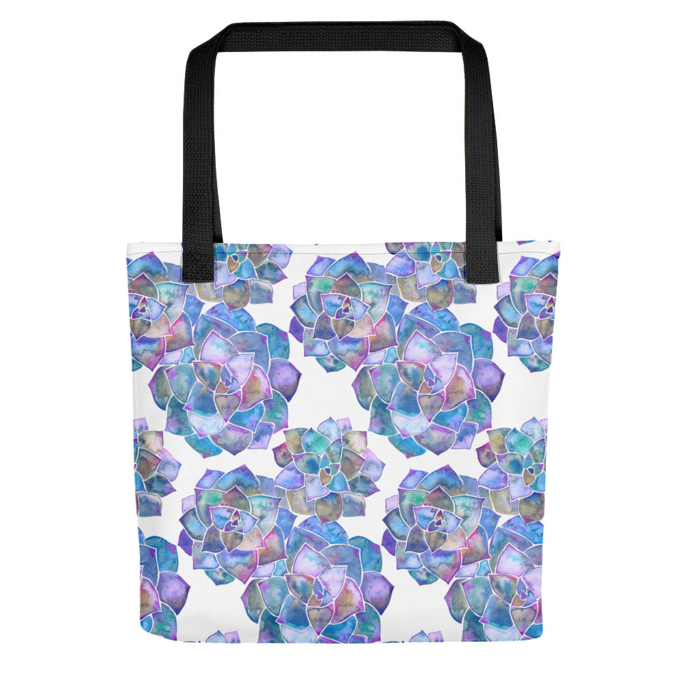 Rosette Succulents – Mermaid Palette • Tote Bag